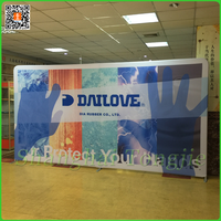 Trade show scretch tension fabric backdrop display