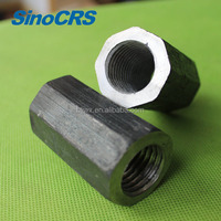 Carbon steel hex extra long nuts connector | rebar coupler