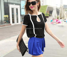 modern design women fashion blouse , wholesale low price popular women tops OCW3834