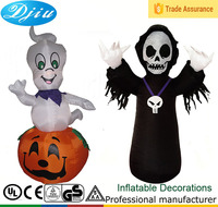 DJ-124 DJ-484 9ft and 4ft Party Inflatable halloween Pumpkin ghost decoration Promotions