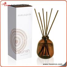 hand blown candle fragrance oil glass diffuser bottle with gift box packaging