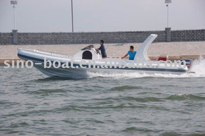 9.6m large hypalon rigid fiberglass hull inflatable rib boat (HB960)