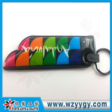 2013 promotional pvc puffy keychain with light Made in China