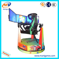 3pcs 42'' screen dynamic racing car/4D motion racing car simulator/coin operated acrade machine for amusement center