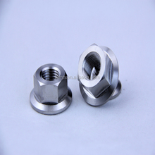 high quality gr5 hex flange titanium nut motorcycle