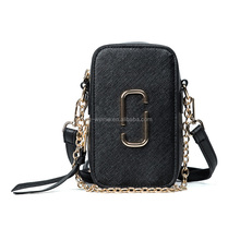 2017 summer popular vertical clip ladies PU leather cell phone shoulder bag wholesale