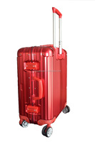 model fashion luggage aluminum frame trolley luggage/custom sports bag