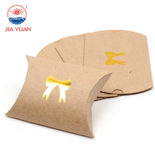 brown kraft pillow paper box packaging for sale