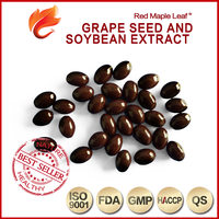 OEM Skin Whitening Pills Grape Seed Oil Soybean Extract Soft Capsule