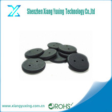 Diameter 25.5mm pps black rfid uhf laundry tag with two holes