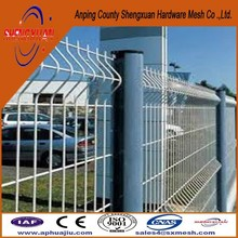 high quality welded wire fence panels / triangle bends fence /color powder coated wire fencing models for homes