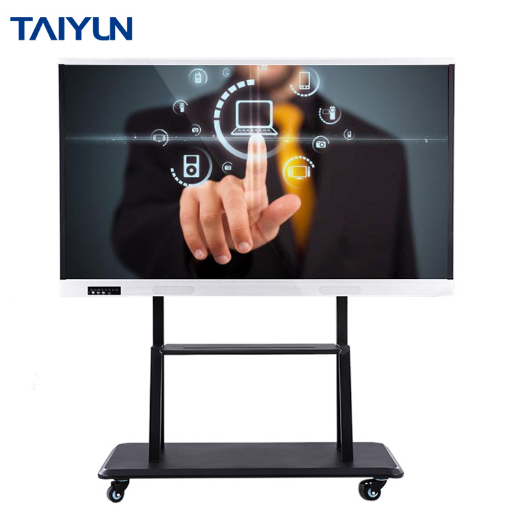 75 inch intelligent flat panel interactive touch screen <strong>monitor</strong> for business meeting