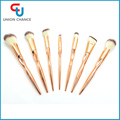 Golden Plastic Makeup Brush Set Synthetic Hair Makeup Brush Tapered Handle Cosmetic Brush