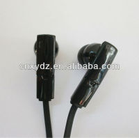 High end black color flat wire mobile earphone with mic