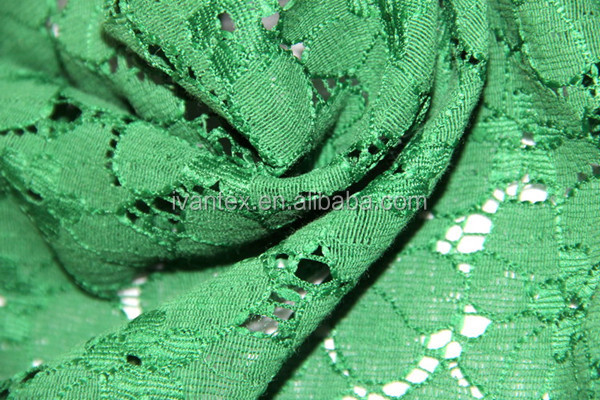 2015 Fashion Design High Quality Cotton Nylon Lace Fabric for Garment