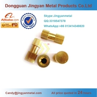 China Supplier Brass Diamond-Knurling Thread Adapters, Brass Connectors