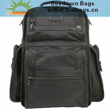High End 1680D Polyester Business Executive Laptop Backpack with Nylon Webbing Straps and Leather Triming Handle