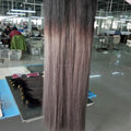 High quality T1B/grey color brazilian straight hair no tangle 8-32 inch ombre human hair extensions