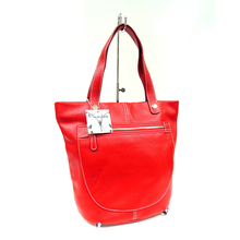 Professional design brand name custom in red leather shoulder bag for women