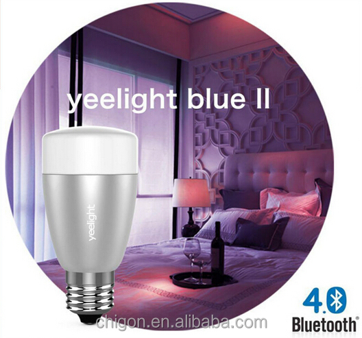 Yeelight Blue II 6W E27 Bluetooth 4.0 LED Bulb, RGB+white light remote controlled by iPhone and android phone, smart home lamp