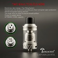 The popular atomizer Captain 24 RTA with adjustable airflow