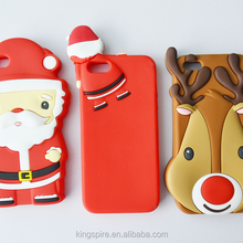 For iPhone 6s 6 5s 5 Christmas Deer Santa Claus Man Rubber Silicon Phone Case