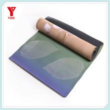 softtextile custom eco big natural rubber washable yoga mat private label manufacturer, printed mat for yoga with yoga mat strap