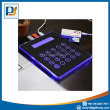 Blue LED Light Mousepad with 4 Ports USB HUB