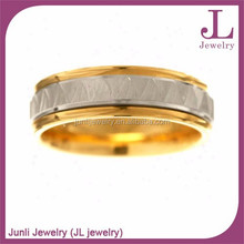 Fashion Spinner Ring Two Tone Plated Stainless Steel Fashion Ring For Children