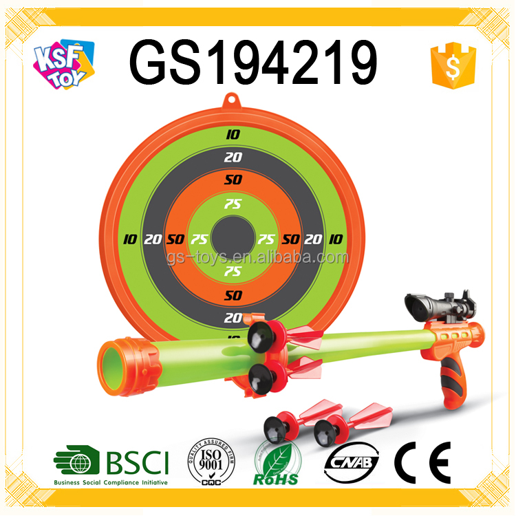 Funny Plastic Non-toxic Real Shooting Gun Target Shooting Toys For Kids