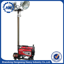 Electric Light Construction Mobile Light Tower Rechargeable Portable Led Tower Light