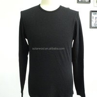 Merino Wool Black Long Sleeve O