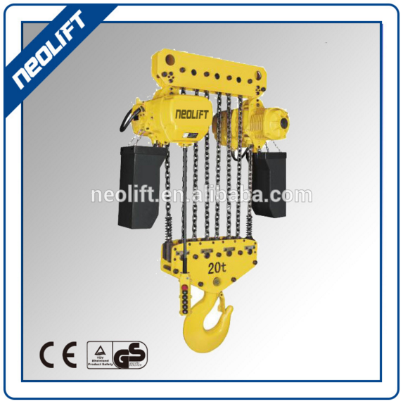 15 ton to 25 ton electric chain block with electric trolley