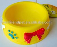 new toy-Everfriend 12.2cm yellow red color dog water and food feeder bowl