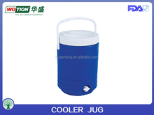 Portable plastic 5 gallon water cooler jug
