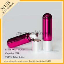 Red Purple Blue Green Orange colors 3ml refillable roll on bottle with stainless steel roller ball and aluminum cap