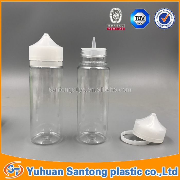 120ml wide mouth pet plastic unicorn bottle with childproof&tamper evident cap