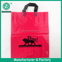 Side gusset custom logo poly plastic shopping bag china