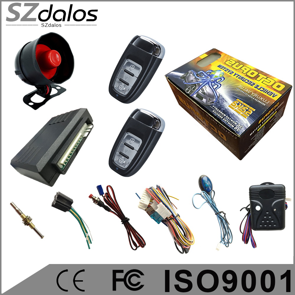 security system vibration remote car alarm with durable battery power