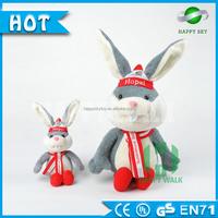2016 New design mascot Champion Rabbit Plush Toy For Sale