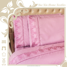 Elegant lace design microfiber fabric bed sheet sets