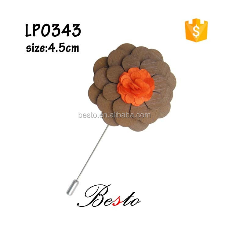 Unique wooden brooch flower&wedding decoration