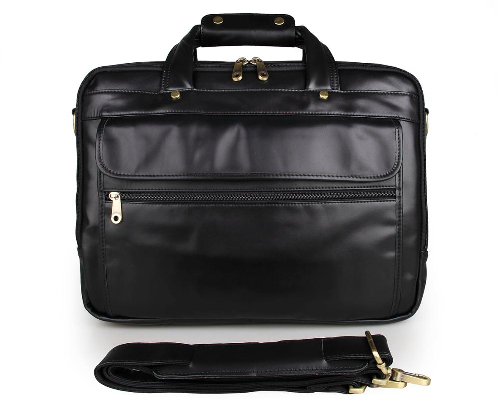 7146 Men's Briefcase Messenge Bag Guarantee Genuine Leather Hand Bags From India