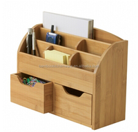 China supplier wholesale good quality office stationery bamboo desk organizer