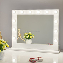 Hollywood Lighted Makeup Vanity Mirror Light, Makeup Dressing Table Vanity Set Mirrors with Dimmer LED Bulbs