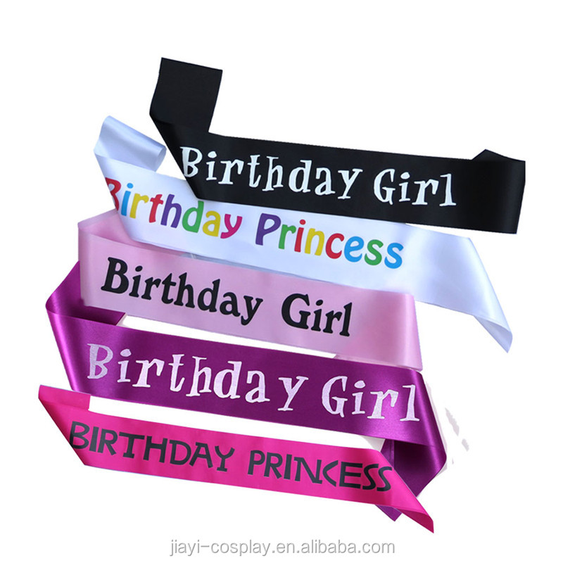 Wholesales black Girls night out Bride to be Sash Birthday Party Sash