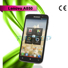 low cost touch screen mobile phone lenovo a850 quad core 2g+3g 5.5 inch capacitive touch screen with CE certificate