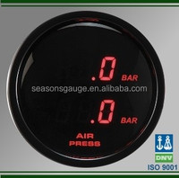 Car Used Digital BAR Dual Air Pressure Suspension Gauge with Sensor