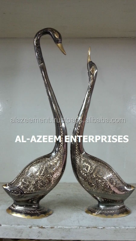 High Quality Hand Made Swans Pair Brass crafts Pakistan For Home & Office Decor / Brass handicrafts / Best Gift