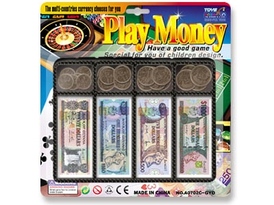 Guyanan Dollar money play set toy